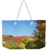Autumn Colors In Maine Blueberry Field And Forest Weekender Tote Bag