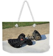 Baseball Glove And Chest Protector Weekender Tote Bag