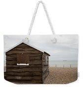 Beach Hut At Kingsdown Weekender Tote Bag