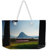 Bench On The Lakefront Weekender Tote Bag