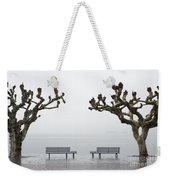 Benches And Trees Weekender Tote Bag