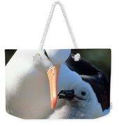 Black-browed Albatross With Chick Weekender Tote Bag by Art Wolfe