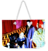 Black Lodge Weekender Tote Bag by Luis Ludzska