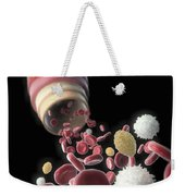 Blood Vessel With Cells Weekender Tote Bag