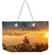 Blue Ridge Parkway Autumn Sunset Over Appalachian Mountains  Weekender Tote Bag