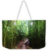 Boardwalk Passing Through Bamboo Trees Weekender Tote Bag