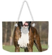 Boxer Dog Weekender Tote Bag by Johan De Meester