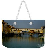 Bridge In Florence Weekender Tote Bag