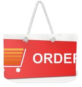 Buy Now Blue Weekender Tote Bag