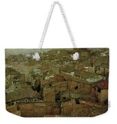 Calahorra Roofs From The Bell Tower Of Saint Andrew Church Weekender Tote Bag by RicardMN Photography