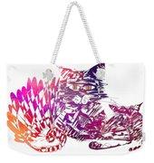 3 Cats Purple Weekender Tote Bag