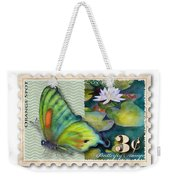 3 Cent Butterfly Stamp Weekender Tote Bag