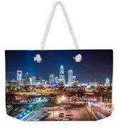 Charlotte City Skyline Night Scene Weekender Tote Bag