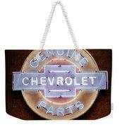 Chevrolet Neon Sign Weekender Tote Bag