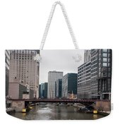 Chicago Skyline And Streets Weekender Tote Bag