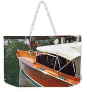 Chris Craft Runabout On Geneva Weekender Tote Bag