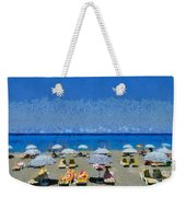 Beach At The City Of Rhodes Weekender Tote Bag