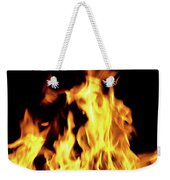 Close-up Of Fire Flames Weekender Tote Bag