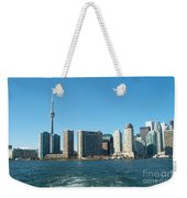 Cn Tower Toronto View From Centre Island Downtown Panorama Improvised With Graphic Artist Tools Pain Weekender Tote Bag