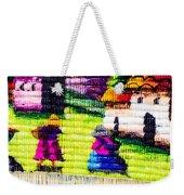 Colorful Fabric At Market In Peru Weekender Tote Bag
