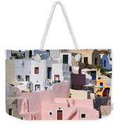 Colorful Oia Weekender Tote Bag