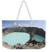 Colourful Crater Lakes Of Kelimutu Weekender Tote Bag by Richard Roscoe
