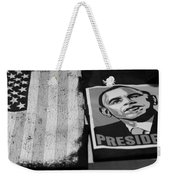 Commercialization Of The President Of The United States Of America In Black And White Weekender Tote Bag