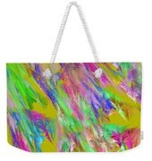Computer Generated Abstract Fractal Flame Weekender Tote Bag