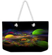 Computer Generated Spheres Abstract Fractal Flame Art Weekender Tote Bag