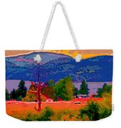 Cowichan Bay From Doman's Road Weekender Tote Bag