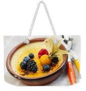 Creme Brulee Dessert Weekender Tote Bag by Elena Elisseeva