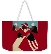 Crimson And Cream Weekender Tote Bag