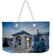 Cultured Stone Terrace Trellis Details Near Park In A City  Weekender Tote Bag