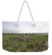 Cut And Dried Grass Along With Growing Grass Weekender Tote Bag