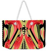 Dancing Tulip Red Exotic Flower Petal Based Wave Pattern  Created By Navinjoshi Reiki Healing Master Weekender Tote Bag