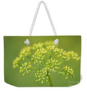 Yellow Dill Flower Weekender Tote Bag