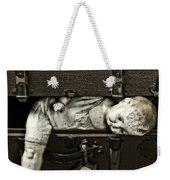 Doll In Suitcase Weekender Tote Bag