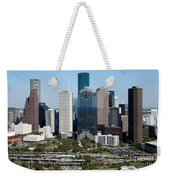 Downtown Houston Skyline Weekender Tote Bag