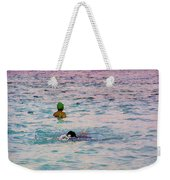 Enjoying The Water In The Coral Reef Lagoon Weekender Tote Bag