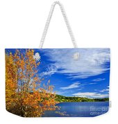 Fall Forest And Lake Weekender Tote Bag by Elena Elisseeva