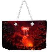 Fireworks Above Toce Falls, Formazza Weekender Tote Bag