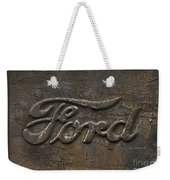 Ford Tough Antique Truck Logo Weekender Tote Bag