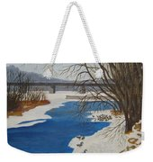 Geese On The Grand River Weekender Tote Bag