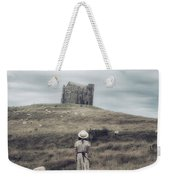 Girl With Sheeps Weekender Tote Bag