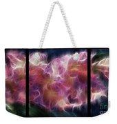 Gladiola Nebula Triptych Weekender Tote Bag