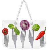 Healthy Food On White Weekender Tote Bag
