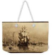 Historic Seaport Schooner Weekender Tote Bag by John Stephens