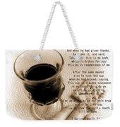 Holy Communion Weekender Tote Bag