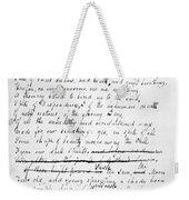 John Keats (1795-1821) Weekender Tote Bag