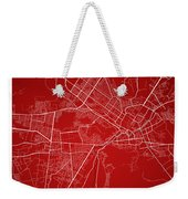 Kabul Street Map - Kabul Afghanistan Road Map Art On Colored Bac Weekender Tote Bag